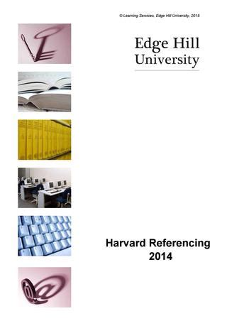 Reference a thesis harvard